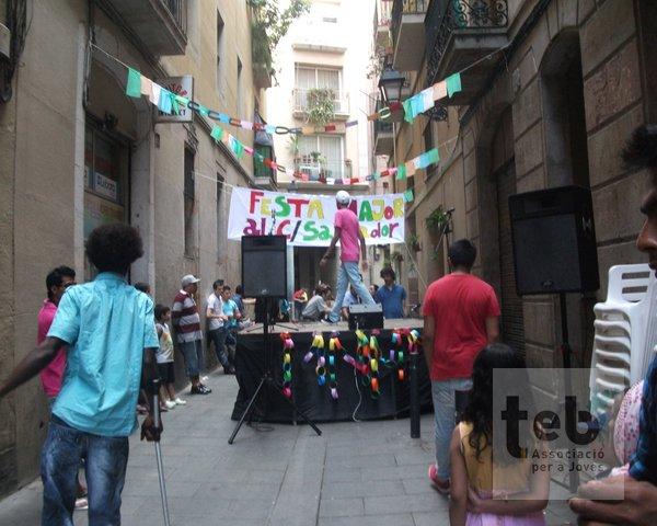 Imatge de la festa major al carrer 2012