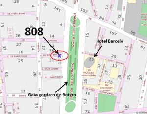 Mapa per trobar la pista San Rafael (RAVAL)