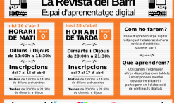 "Cartell ""La revista del barri"""