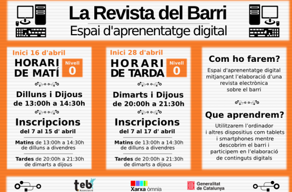 "Obrim inscripcions a la ""Revista del Barri"""